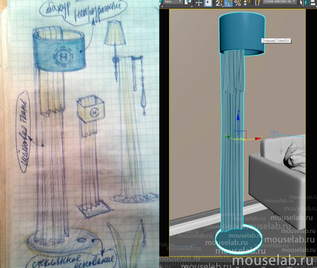 Создание 3D модели по эскизам