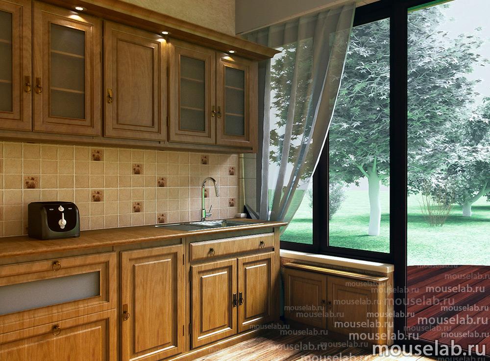 Дизайн-проект большой кухни