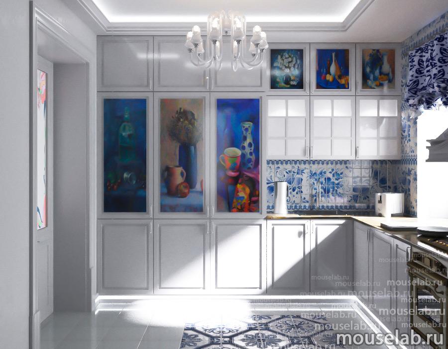 Дизайн проект кухни выполненный нашим специалистом
