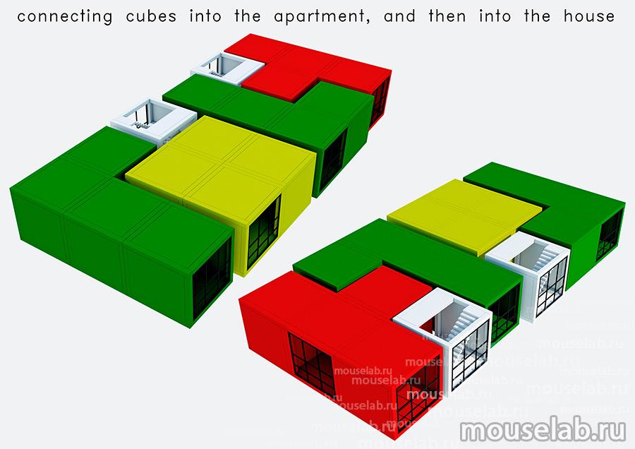 Секции модульного дома